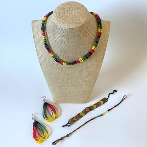 Jewelry - Set of 4 - Rasta Jewelry Bundle